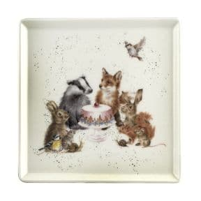 Wrendale Woodland Party 18cm Square Plate