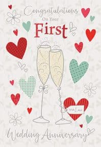 Your First Wedding Anniversary Card