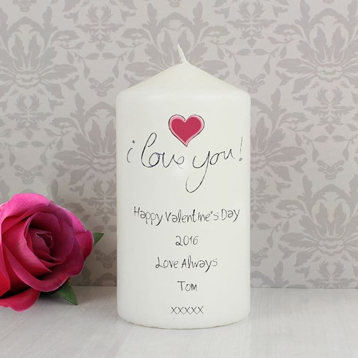 Personalised I Love You Candle