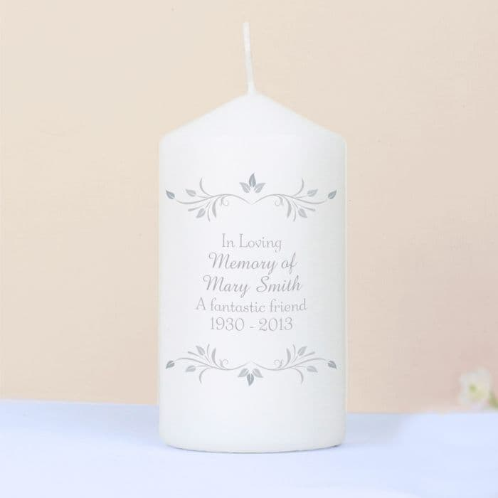 Personalised Sentiments Candle