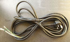 6.5M H07RN-F POWER CABLE WITH PLUG - SUITABLE FOR ALL CHILLCHASER, WARMWATCHER, TECHNOHEATERS