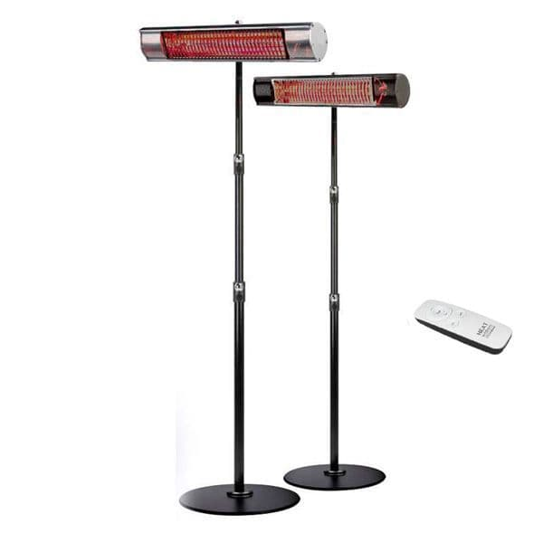 Workshop and Factory Use - Shadow Plus† Remote Control Ultra-low-glare 2kW Heater - with adjustable RB Stand