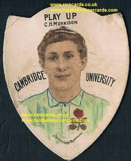 1880's C.H. Morrison Cambridge University Baines Litho Pears Soap rugby card