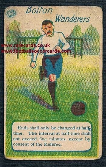 1890's Troman Rules of the game card Bolton Wanderers