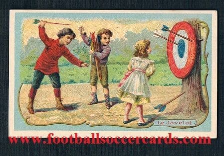 1890s darts card Le javelot from France plain back - very rare