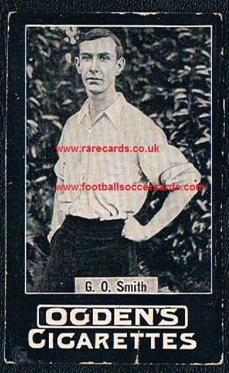 1900 -01 G O Smith Ogden tabs type card, plain back, light faults