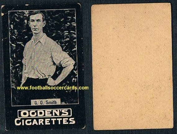 1900 -01 G.O. Smith Ogden Cigarette card, plain-back type clean with small faults