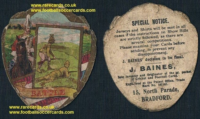 1900 Boer War Life Guards British army household cavalry  Baines Battle card