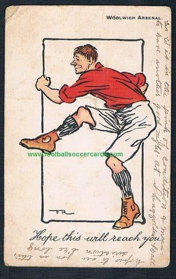 1902  Woolwich Arsenal postcard Hope This Will Reach You rare Edwardian p/card