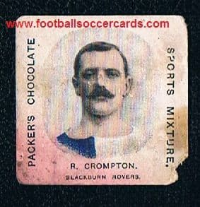 1909 Bob Crompton Hall of Fame Blackburn Rovers player & manager legend, H J  Packers card