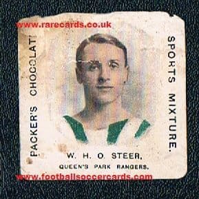 1909 H. J. Packer chocolates Sports Mixture William Steer QPR Chelsea