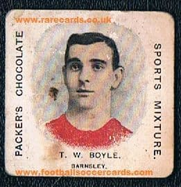 1909 Tommy Boyle Barnsley Burnley Packer