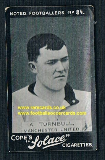 1910 Cope Bros. Solace cigarette 84 Turnbull Man Utd