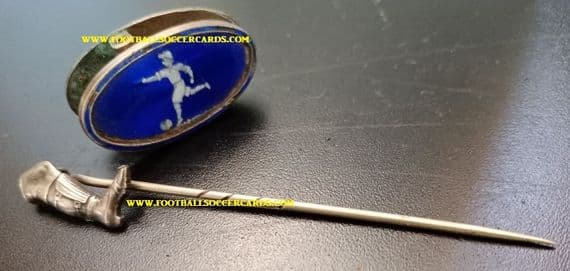 1918 -1920s unique gifts 2 Women's Ladies Girls football soccer relics: 1 enamel brooch & 1 hat pin