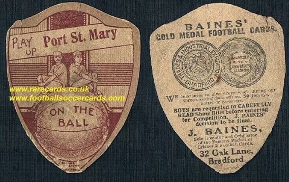 1918 Baines Port St. Mary Isle of Man Manx Purt le Moirrey card