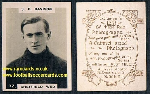 1919 pinnace brown oval back Sheffield Wednesday Davison 72