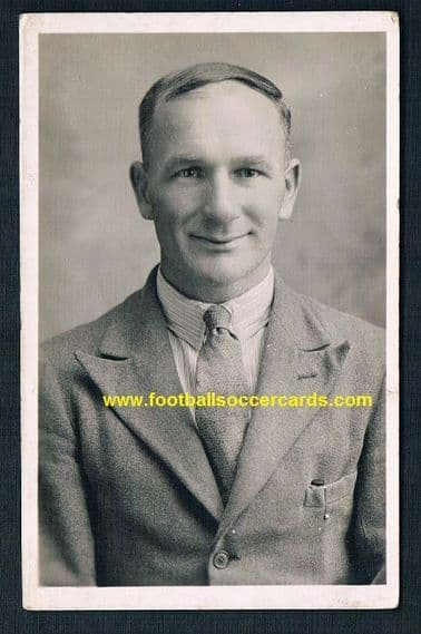 1920s Bob Turnbull Arsenal Southend Crystal Palace Chelsea Charlton Orient Burton PC