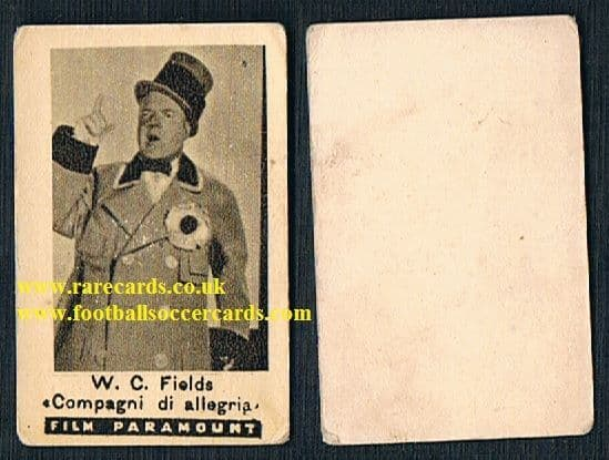 1920s comedian trade card W. C. Fields comic