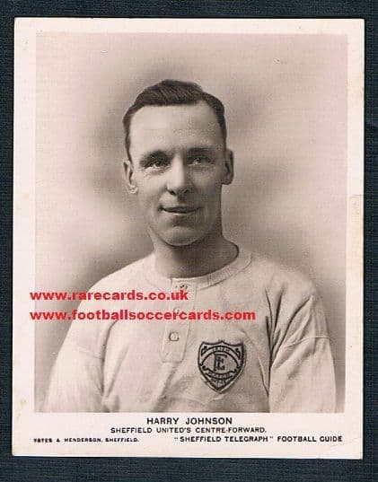 1920s Harry Johnson Sheffield Telegraph Blades United's top goal scorer Mansfield Town
