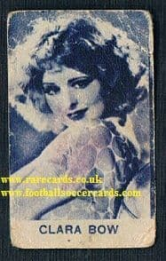 1920s Italian Clara Bow blue card notes