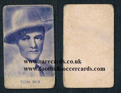 1920s Italian trade card Tom Mix cowboy
