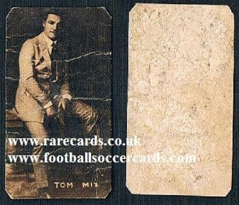 1920s Italian trade card Tom Mix poor
