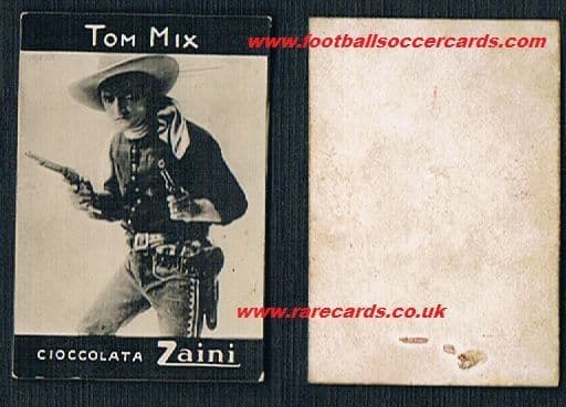 1920s Tom Mix cowboy Zaini Italy