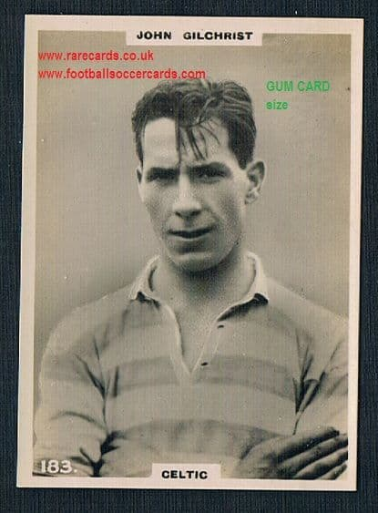 1921 Pinnace GUM CARD SIZE 183 Celtic Gilchrist OVAL back
