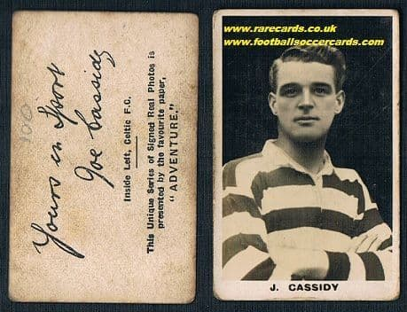 1922 Cassidy Celtic Adv Signed