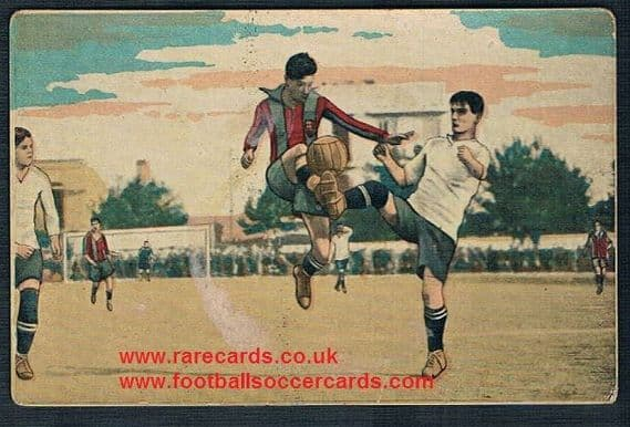 1922 Crook Town Co. Durham v Barcelona card Eduardo Pi