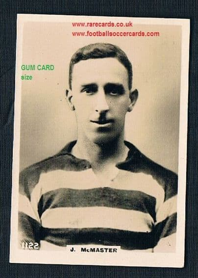 1922 Pinnace GUM CARD SIZE 1122 Celtic McMaster card FRAMELINES