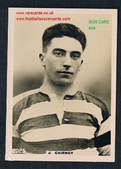 1922 Pinnace GUM CARD SIZE 2025 Celtic Cairney card FRAMELINES