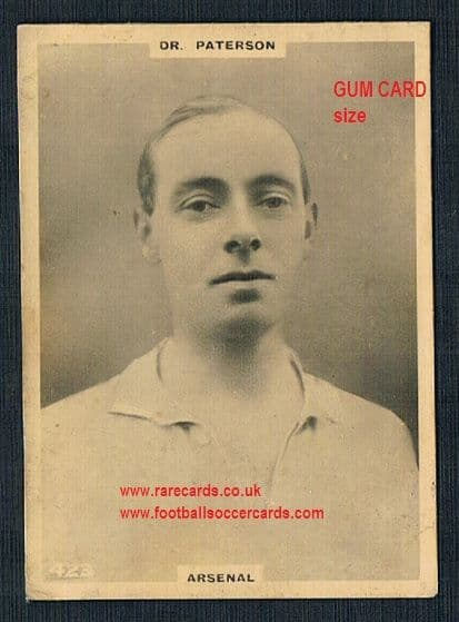1922 Pinnace GUM CARD SIZE 423 Arsenal Patterson OVAL