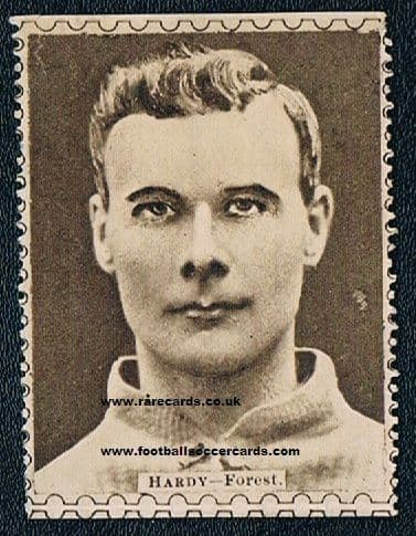 1922 Sam Hardy - the legend himself - on a very rare Sports Fun 'stamp' trade card