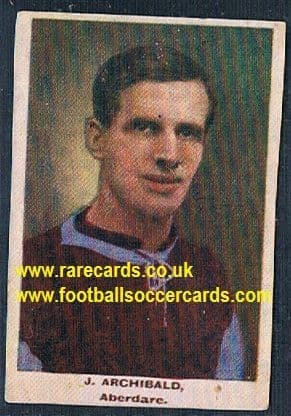1923 Adventure Gallery Famous Club Colours Players Aberdare Archibald