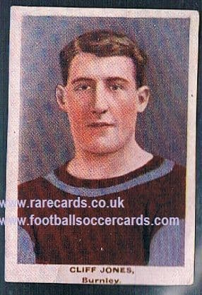 1923 Adventure Gallery Famous Club Colours Players Burnley Jones