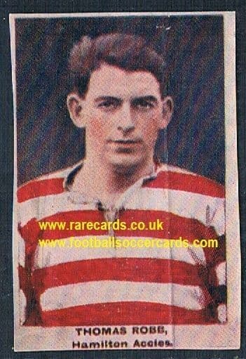 1923 Adventure Gallery Famous Club Colours Players hamilton Accademicals Robb