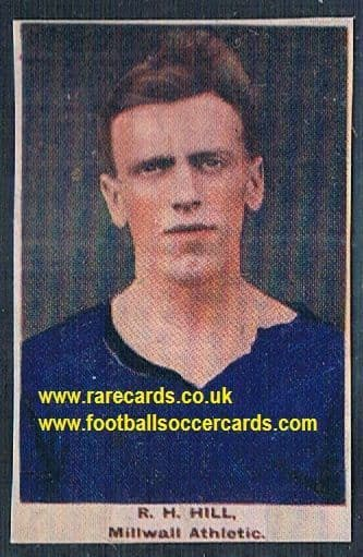 1923 Adventure Gallery Famous Club Colours Players  Millwall Hill