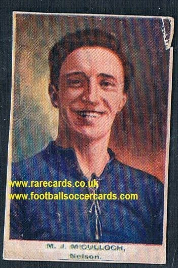 1923 Adventure Gallery Famous Club Colours Players Nelson Burnley MCCulloch