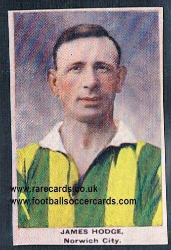1923 Adventure Gallery Famous Club Colours Players Norwich Hodge