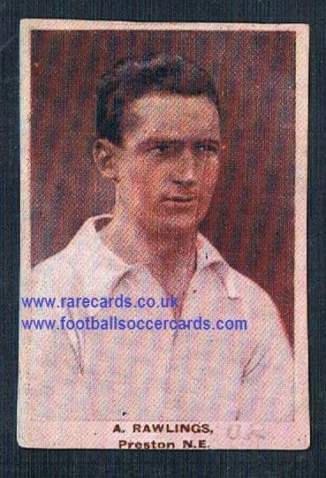 1923 Adventure Gallery Famous Club Colours Players Preston North End Rawlings
