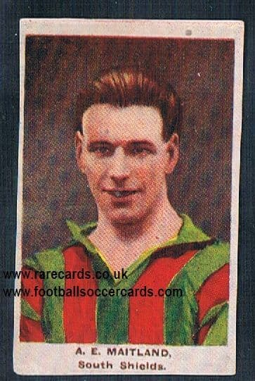1923 Adventure Gallery Famous Club Colours Players South Shields Maitland