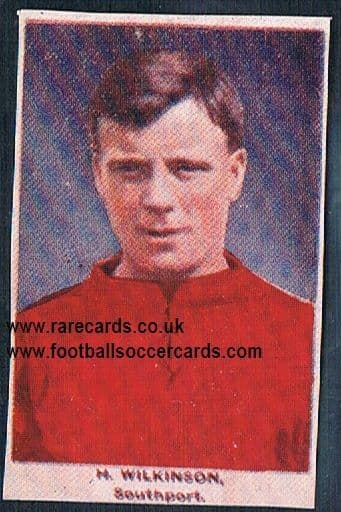 1923 Adventure Gallery Famous Club Colours Players Southport Wilkinson