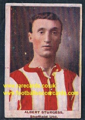 1923 Adventure Gallery Famous Club Colours Players Sturgess Sheffield United