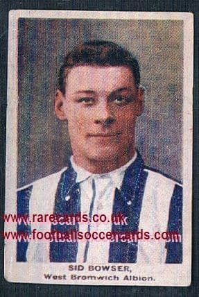 1923 Adventure Gallery Famous Club Colours Players WBA Bowser