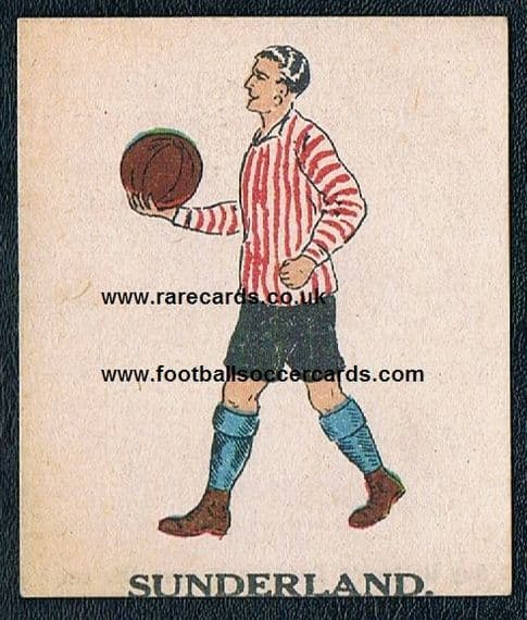 1923 Battock's Sunderland card