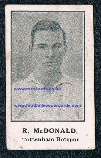 1923 Robert McDonald Spurs pre-Barratt