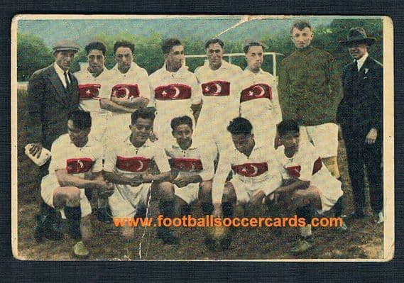1924 Turkey 1st football card  from XIII Olympiada Eduardo Pi Spanish Zeki  Fenerbahçe