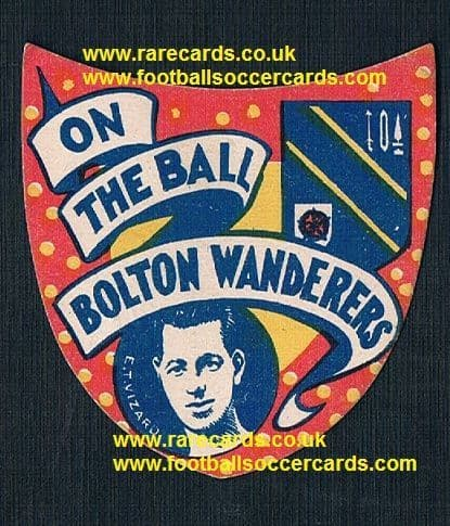 1926 Ted Vizard Bolton Barry Town Wales shield-card Boys Magazine