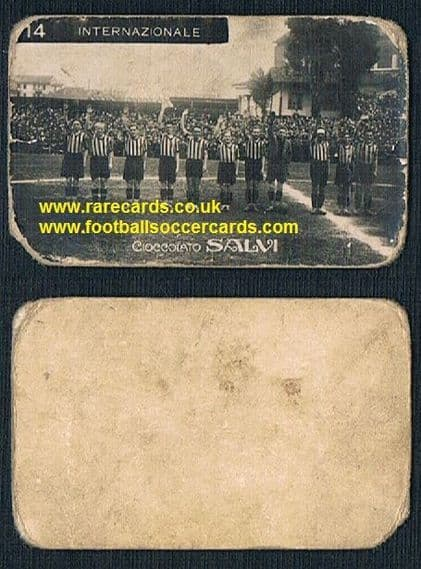 1927-28 Salvi Inter team fascist salute soccer card